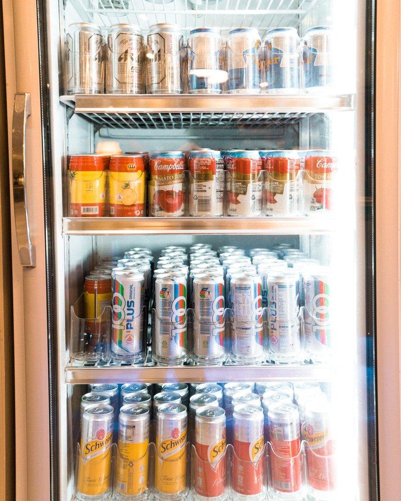 Plenty of soft drinks.